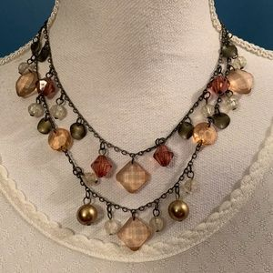 Fall Colors Trio Necklace Set Shades of Amber Bead